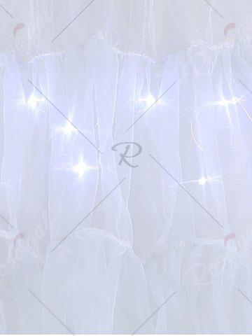 Sale Plus Size Cosplay Light Up Party Skirt - LIGHT GRAY 3XL Mobile