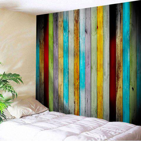 Colorful Woodgrain Polyester Wall Hanging Tapestry - Colormix - W71 Inch * L91 Inch