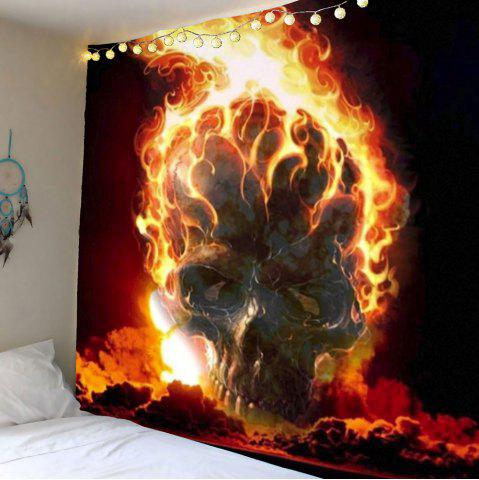Home Decor Fire Skull Wall Hanging Tapestry - Red - W71 Inch * L71 Inch