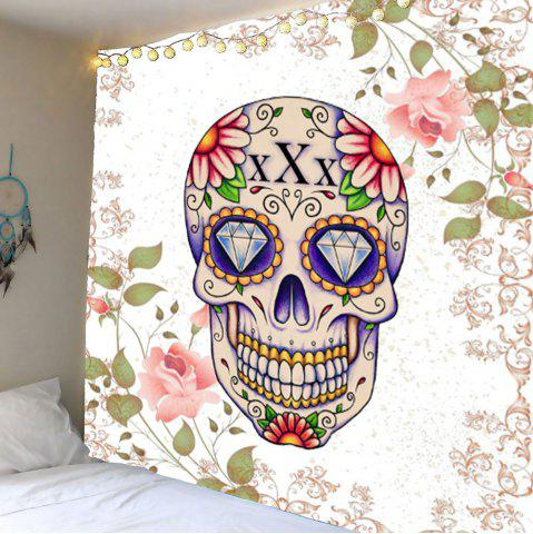 Skull Floral Rhinestone Wall Hanging Tapestry - Colorful - W79 Inch * L71 Inch