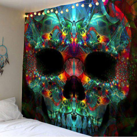 Home Decor Halloween Skull Wall Hanging Tapestry - Colorful - W79 Inch * L79 Inch