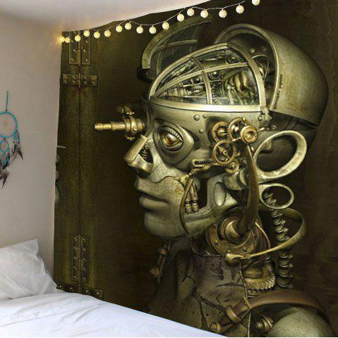 Vintage Robot Skull Wall Hanging Tapestry - Gray - W79 Inch * L79 Inch