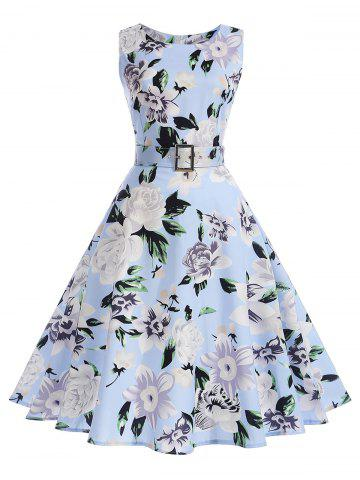 Shops Vintage Floral Sleeveless A Line Dress