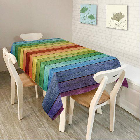Shops Colorful Wood Grain Print Home Decor Table Cloth