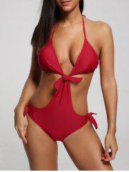 Halter One Piece Padded Swimwear