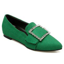 Rhinestones Buckle Strap  Flat Shoes