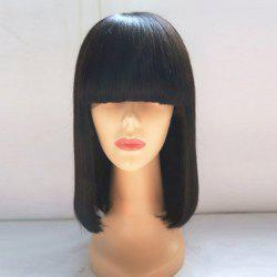 Medium Full Bang Straight Bob Synthetic Wig