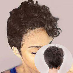 Short Side Bang Layered Curly Synthetic Wig