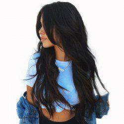 Long Middle Part Wavy Synthetic Wig