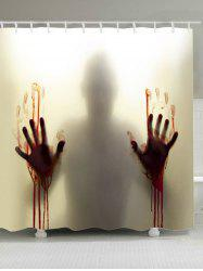 Blood Hand Shadow Printed Polyester Waterproof Shower Curtain
