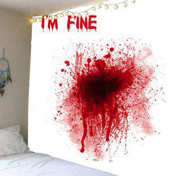 Home Decor Bloody I'M FINE Wall Tapestry