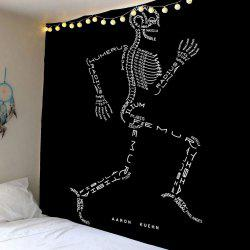 Running Skeleton Letter Wall Tapestry