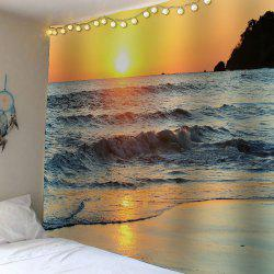 Waterproof Velvet Beach Sunset Wall Hanging Tapestry