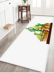 Cactus Plant Pattern Anti-skid Water Absorption Area Rug