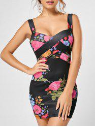 Padded Floral Bodycon Dress
