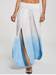Ombre High Slit Wide Leg Pants