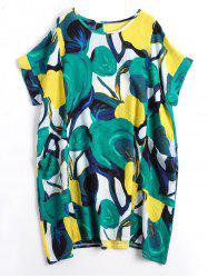 Funny Print Plus Size Casual Dress -