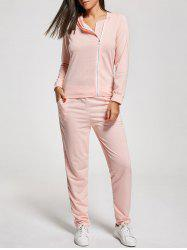 Zip Up Long Sleeve Two Piece Sports Suit