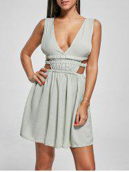 Plunge Mini Cut Out Skater Dress