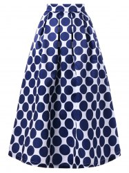 Polka Dot Maxi Swing Skirt