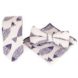 Cartoon Fish Pinting Necktie Handkerchief Bowtie