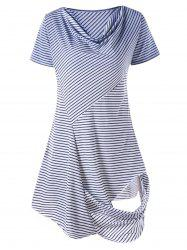 Asymmetrical Striped Longline Tee