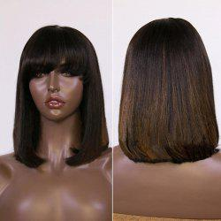 Medium Full Bang Colormix Straight Bob Synthetic Wig