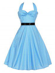 Halter A Line Polka Dot Vintage Dress