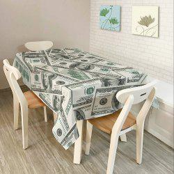 Dollars Print Home Decor Dining Table Cloth - GRAY W54 INCH * L72 INCH