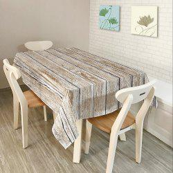 Wood Flooring Print Home Decor Fabric Table Cloth - GREY WHITE