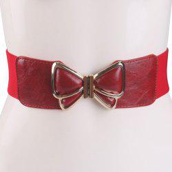 Butterfly Buckle Faux Leather Splicing Belt -