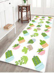 Cactus Plants Pattern Anti-skid Water Absorption Area Rug