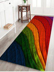 Colorful Leafs Pattern Anti-skid Water Absorption Area Rug