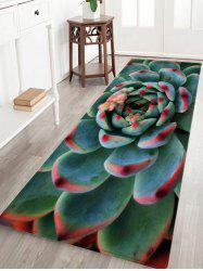 Succulents Pattern Anti-skid Water Absorption Area Rug