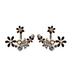 Rhinestone Sparkly Flower Ear Jackets