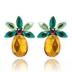 Faux Crystal Pineapple Fruit Earrings -