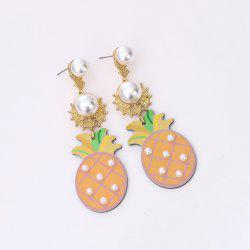 Artificial Pearl Pineapple Drop Earrings