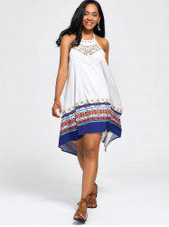 Halter High Low Backless Boho Casual Dress