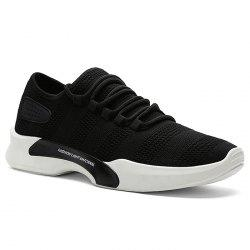 Breathable Mesh Tie Up Athletic Shoes