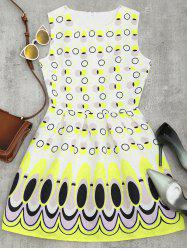 Sleeveless Polka Dot Mini Flared Dress