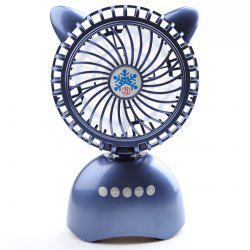 Haut-parleur Bluetooth sans fil USB Portable Mini Desk Fan - Bleu 20*13*6CM