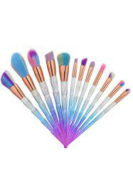 Matte Diamond Shape Ombre Handle Makeup Brushes Set