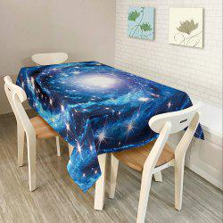 Starry Sky Print Fabric Waterproof Table Cloth - BLUE