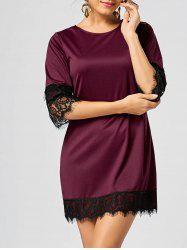 Lace Insert Mini Shift Dress