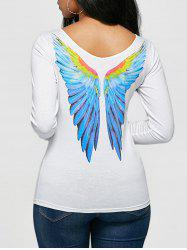Angel Wings Print Long Sleeve T-shirt