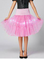 Flounce Light Up Bubble Cosplay Jupe - Rose Clair L