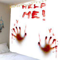 Home Decor Bloody Help Me Handprint Wall Tapestry