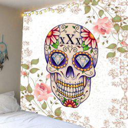 Skull Floral Rhinestone Wall Hanging Tapestry