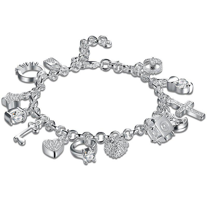 Best Cross Heart Moon Ball Charm Bracelet