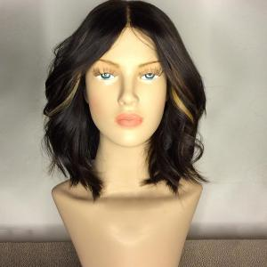 Center Part Medium Shaggy Wavy Synthetic Wig - Colormix - 26inch